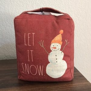 Rae Dunn Let it Snow Door Stoppers